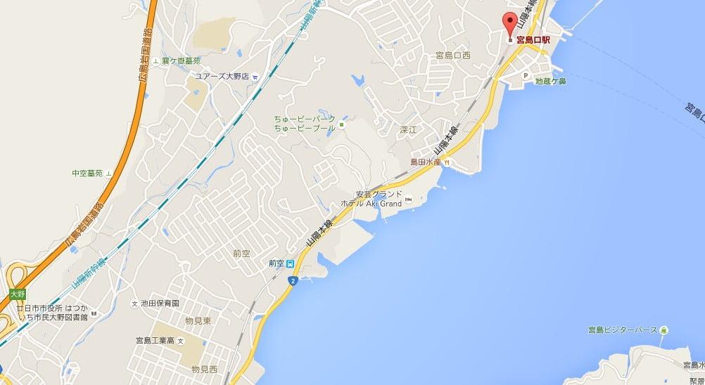 九州方面の最寄りインターチェンジは、「広島岩国道路・大野IC」でおじゃるぞよ!