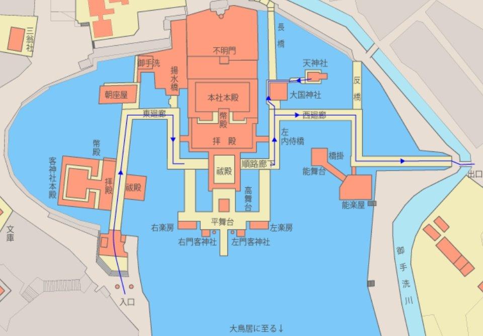 厳島神社・境内の地図(マップ)