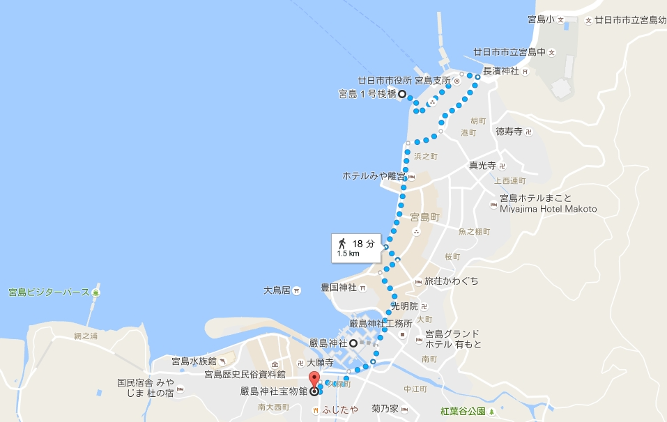 宮島桟橋から厳島神社